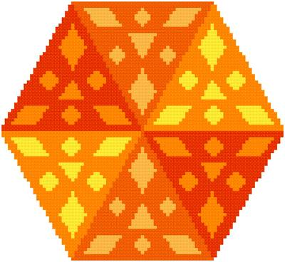 cross stitch pattern Fire Glow