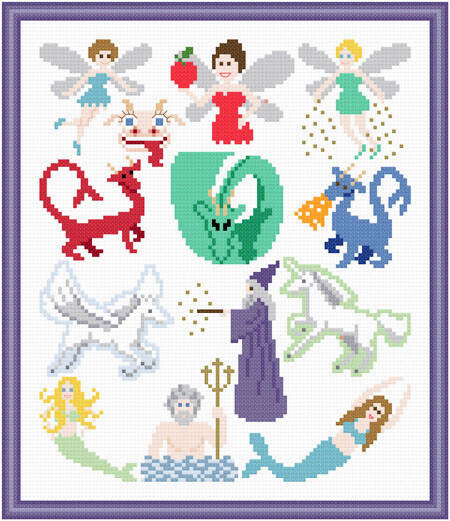 cross stitch pattern Fantasy Images