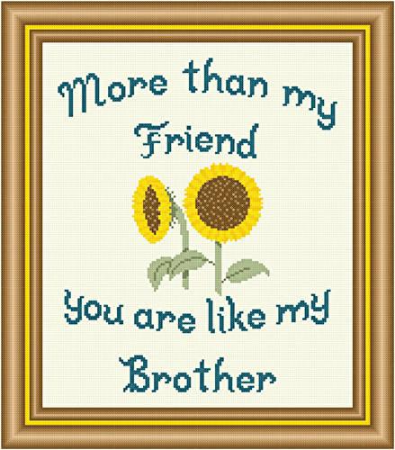 cross stitch pattern Friend - Brother