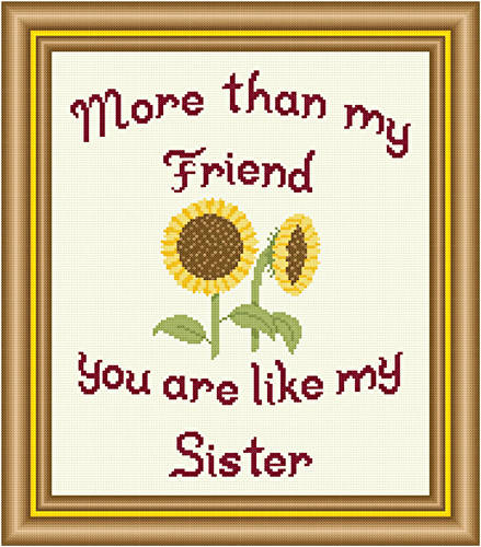 cross stitch pattern Friend - Sister