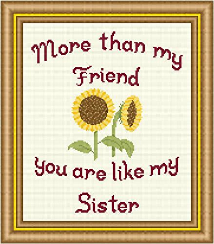 cross stitch pattern Friend - Sister