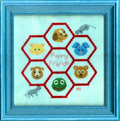 cross stitch pattern Furry Friends