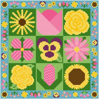 cross stitch pattern Flower Garden