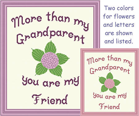 cross stitch pattern Grandparent - Friend