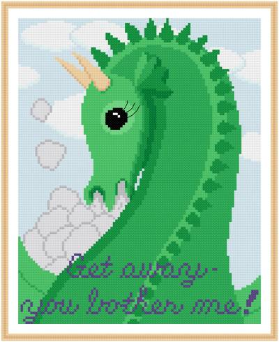 cross stitch pattern Get Away