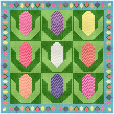 cross stitch pattern Hyacinths
