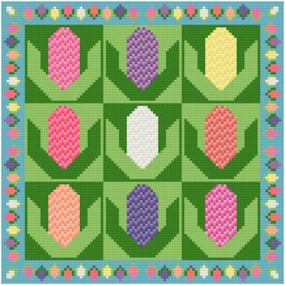 cross stitch pattern Hyacinths