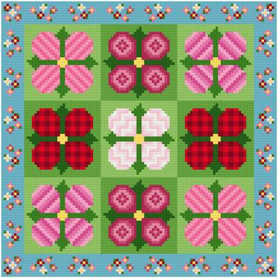 cross stitch pattern Impatiens