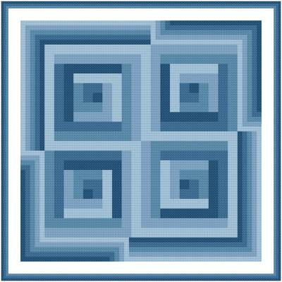 cross stitch pattern In and Out
