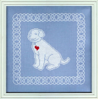 cross stitch pattern Lace Pup