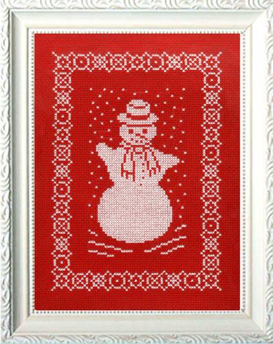 cross stitch pattern Let It Snow