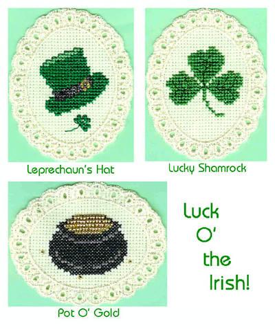cross stitch pattern Luck O' the Irish