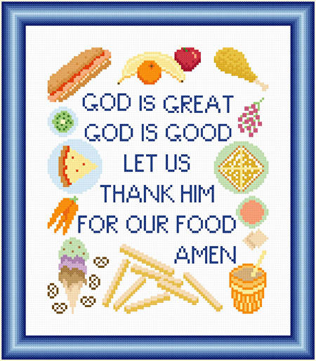 cross stitch pattern Child's Meal Prayer