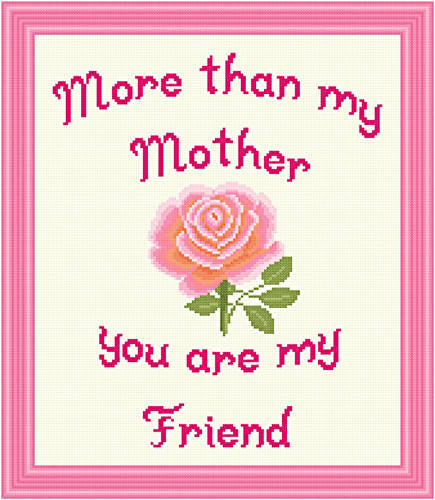 cross stitch pattern Mother - Friend