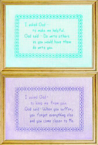 cross stitch pattern God Messages 3 - Pain / Helpful