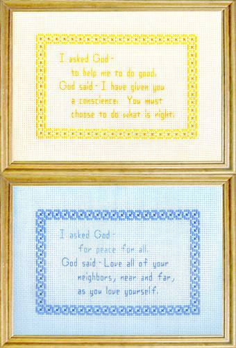 cross stitch pattern God Messages 5 - Peace / Do Good