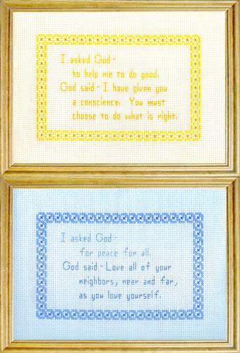 cross stitch pattern God Messages 5 - Peace / Do Good