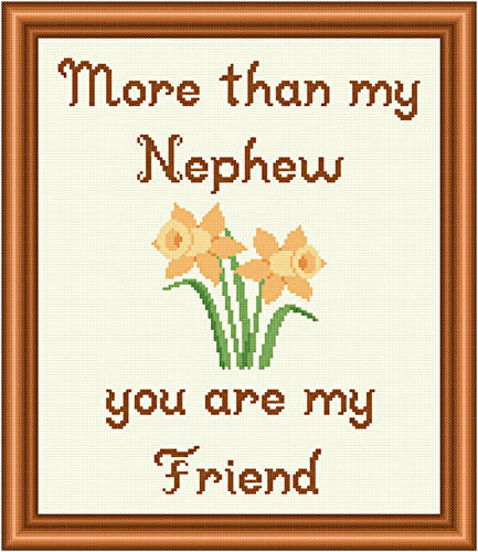 cross stitch pattern Nephew - Friend