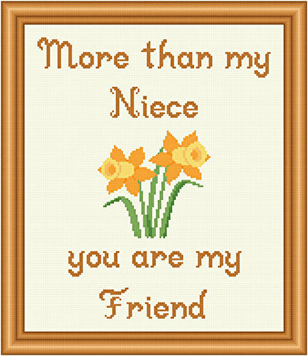 cross stitch pattern Niece - Friend