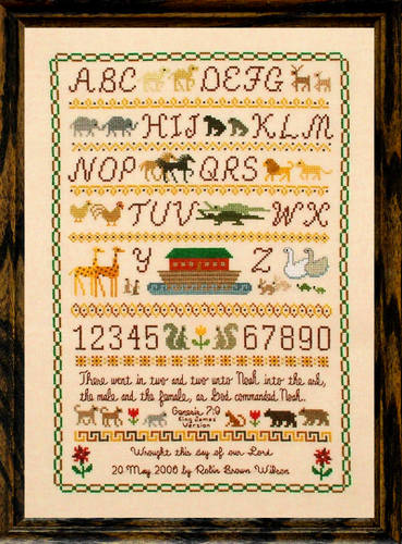cross stitch pattern Noah's Ark  Sampler