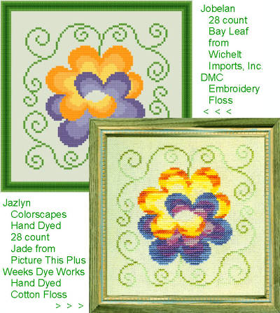 cross stitch pattern Entwined Flowers