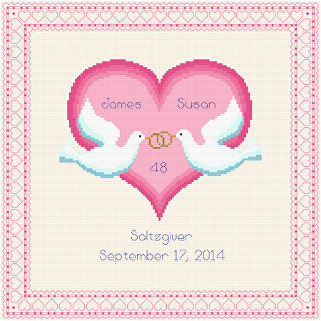 Our Love Cross Stitch Pattern Wedding