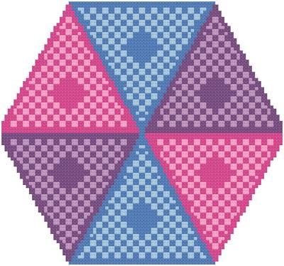 cross stitch pattern Peek-A-Boo
