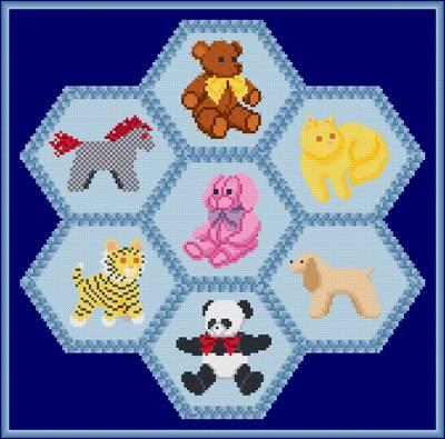 cross stitch pattern Plush Toy Quilt