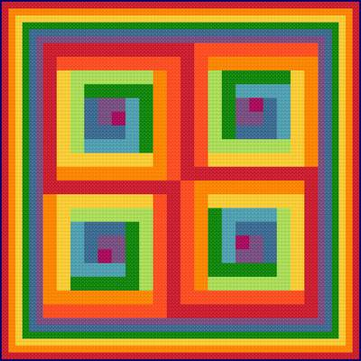 cross stitch pattern Psychedelic Rainbow