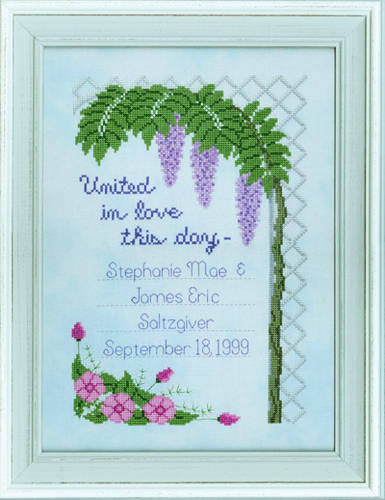 cross stitch pattern Our Special Day