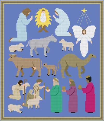 cross stitch pattern Religious Christmas Images
