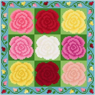 cross stitch pattern Roses