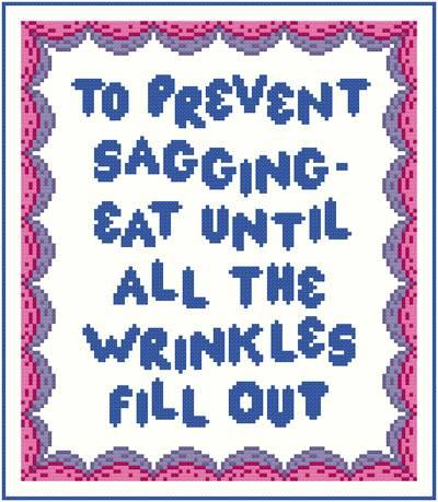 cross stitch pattern Prevent Sagging