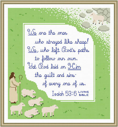cross stitch pattern All We Like Sheep