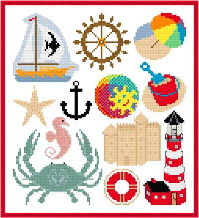 cross stitch pattern Seashore Images Collection