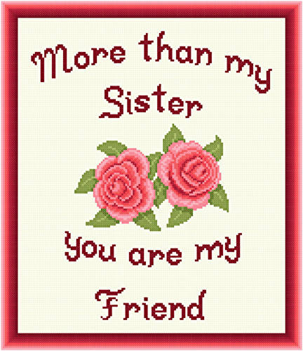 cross stitch pattern Sister - Friend
