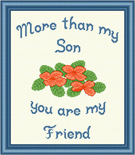 cross stitch pattern Son - Friend