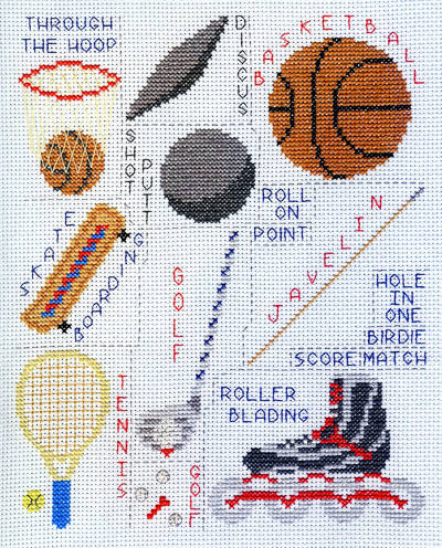cross stitch pattern Sports Images - Set 1