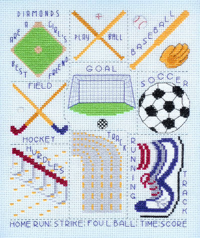 cross stitch pattern Sports Images - Set 2