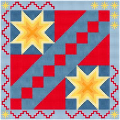 cross stitch pattern Stairway to the Stars