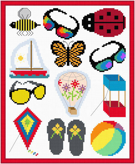 cross stitch pattern Summer Images