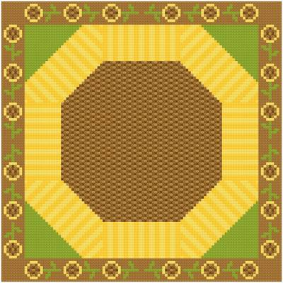 cross stitch pattern Large Sunflower