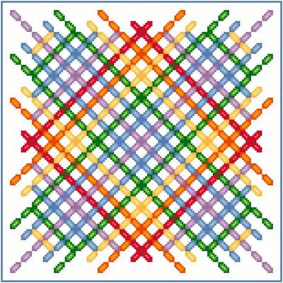 cross stitch pattern Tattared Pajamas