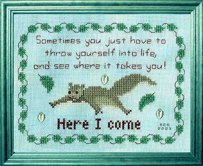 cross stitch pattern Throw Yourself Into Life