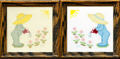 cross stitch pattern Thirsty Posies