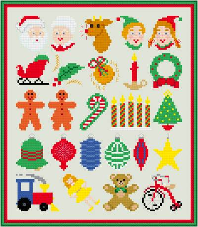 cross stitch pattern Tiny Popular Christmas Collection