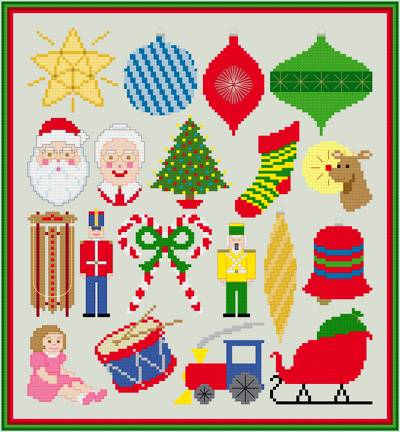 cross stitch pattern Traditional Christmas Collection