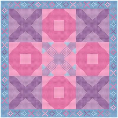 cross stitch pattern Tic Tac Toe