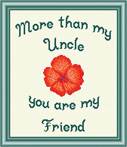cross stitch pattern Uncle - Friend