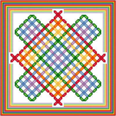 cross stitch pattern Windmill